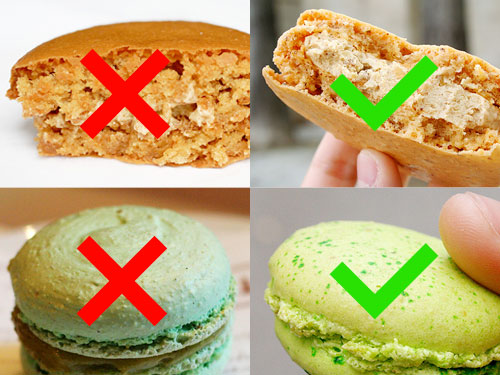 right and wrong macarons