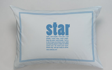A Lot To Say Star Pillowcase