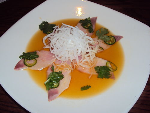 jalapeno yellowtail sashimi from kona grill