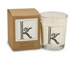 Illume Monogram K Votive Candle