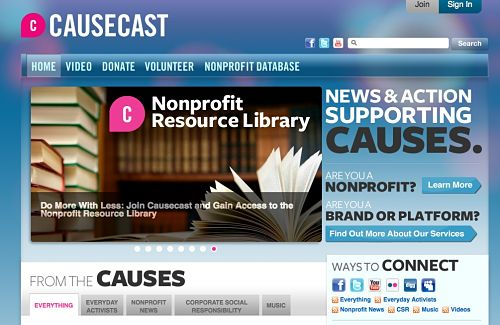 causecast homepage