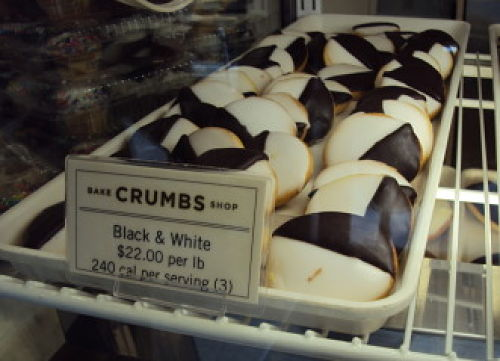 crumbs mini black and white cookies