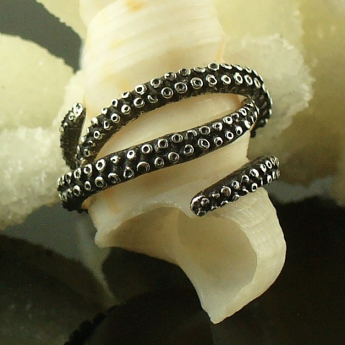 tentacle stacker rings octopusme etsy