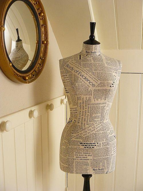 newsprint print mannequin