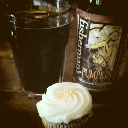 pumpkin spice cupcake and beer sweet bakery baltimore maryland