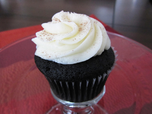 black velvet cupcake midnite confection's baltimore maryland