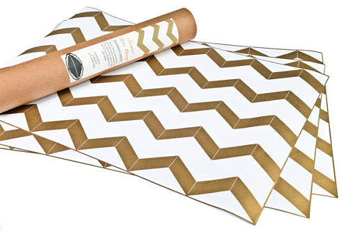 hammocks and high tea gold chevron drawer liners