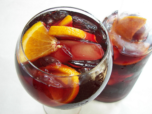 homemade holiday sangria