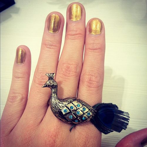 peacock ring charming charlie