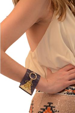 bolbach bracelet cuff purple python cuff with logo cufflink