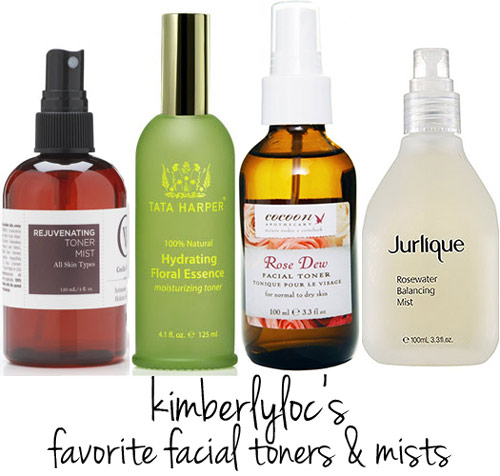 @kimberlyloc's favorite facial toners and mists