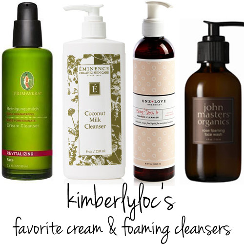 @kimberlyloc's favorite cream and foaming cleansers