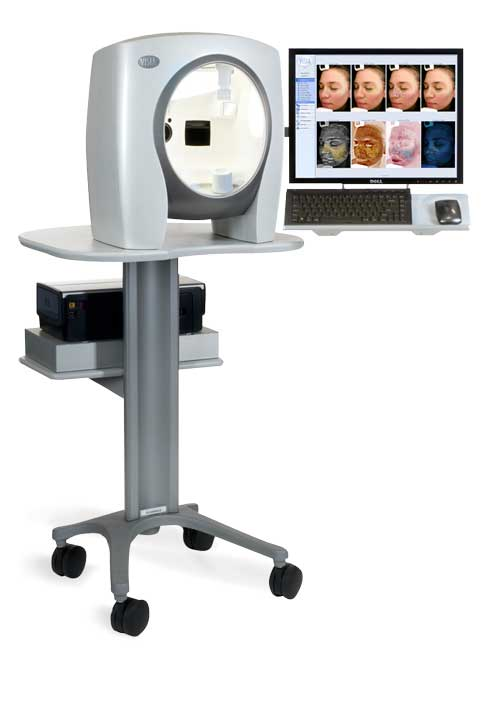 {This is what the Visia Complexion Analysis machine looks like — nothing crazy at all, just sit and rest your chin for a quick picture! Photo Courtesy MyChelle Dermaceuticals}