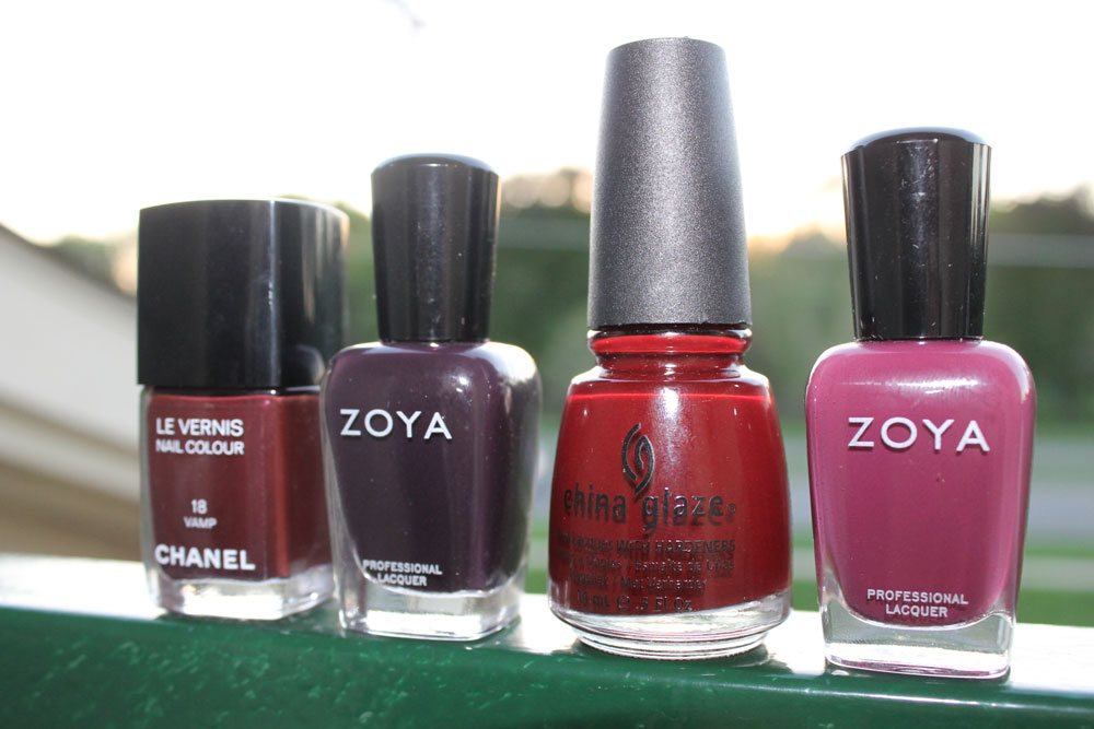 8 Shades Of Ox Blood Nail Polish