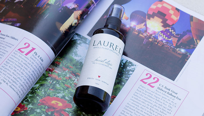 laurel whole plant organics facial elixir for oily to combination skin