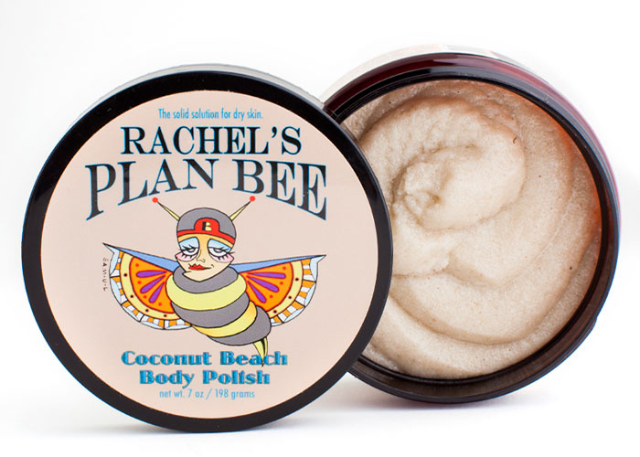 rachel's plan bee coconut beach body polish